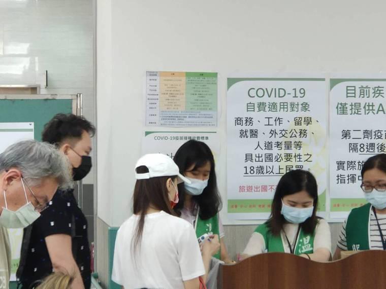 軍人及65歲以上長者今天起可免費施打AZ疫苗,部立台中醫院下午二時起的疫苗接種門...