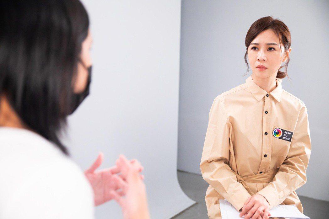 謝盈萱響應「同恐不再 反歧視救助計畫」錄製募資公益影片。圖/愛最大慈善光協會提供