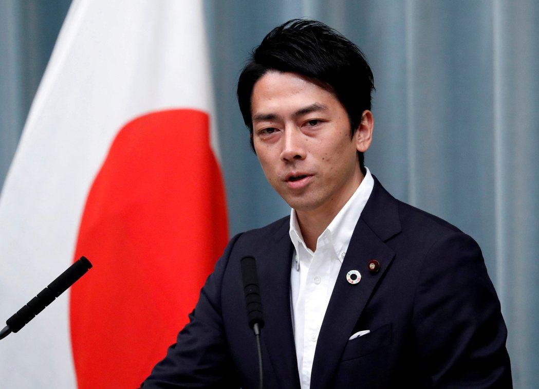 日本環境大臣小泉進次郎。(路透)