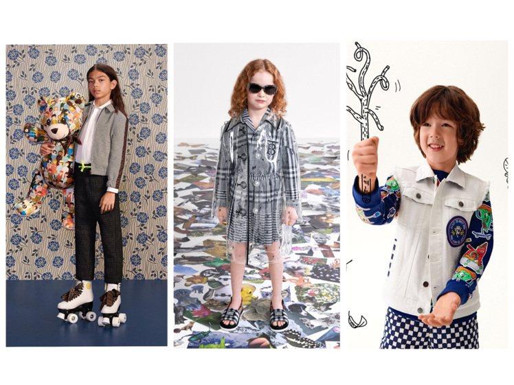精品品牌推出春夏季新款童裝。圖/各品牌提供