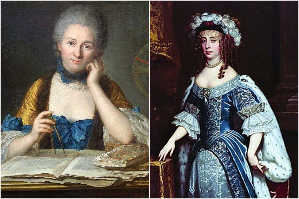 左為Émilie du Châtelet;右為Margaret Cavendish。 圖/維基共享