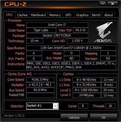 AORUS 17G YD採第11代Intel Core i7 11800H處理器...