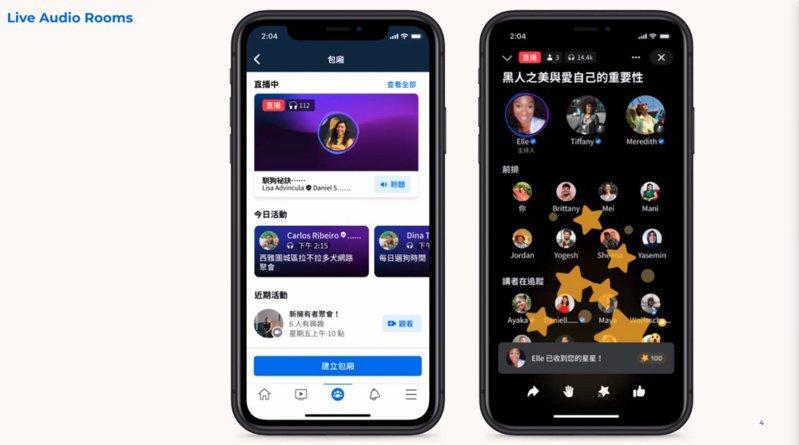 ▲Live Audio Rooms服務從即日起開放台灣地區測試,未來幾個月內將會正式推出