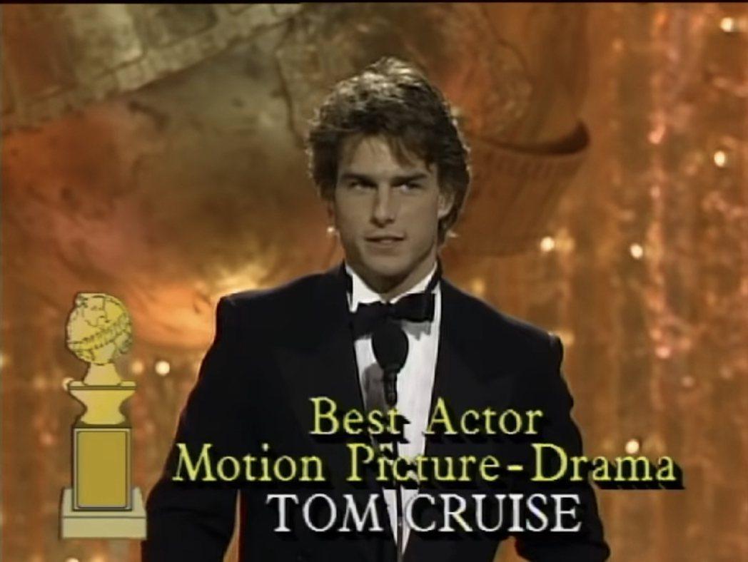 湯姆克魯斯曾3度獲金球獎,把3座獎都退還主辦單位。圖/摘自YouTube