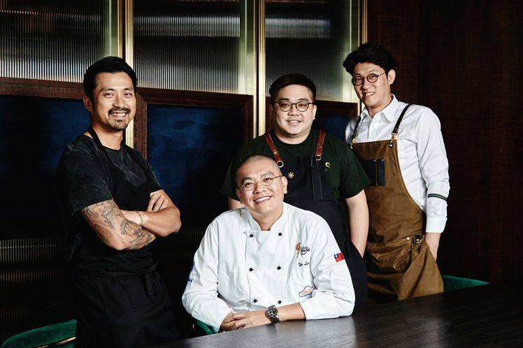 林明健主廚(左)與台南三家人氣名店共同打造WILDWOOD南人WAY之夜。圖/W...