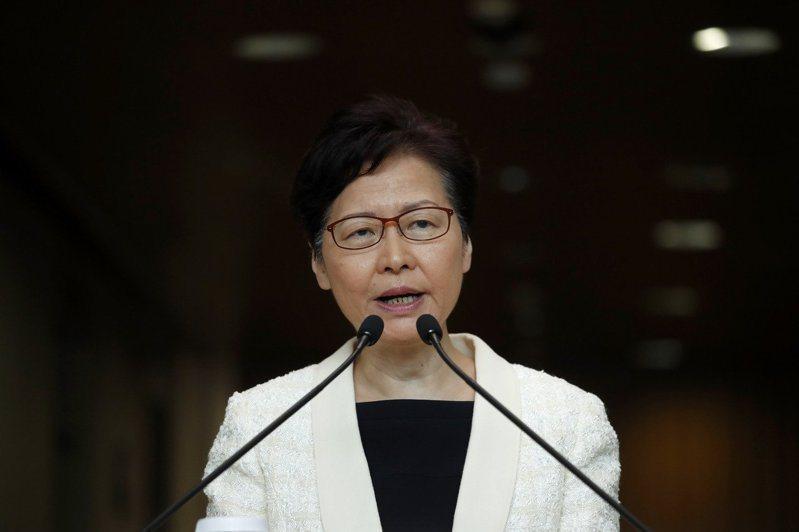 香港行政長官林鄭月娥。美聯社