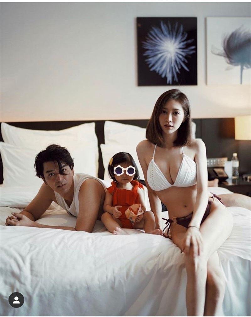 潘逸安老婆Vivian(右)身材超好。圖/摘自IG