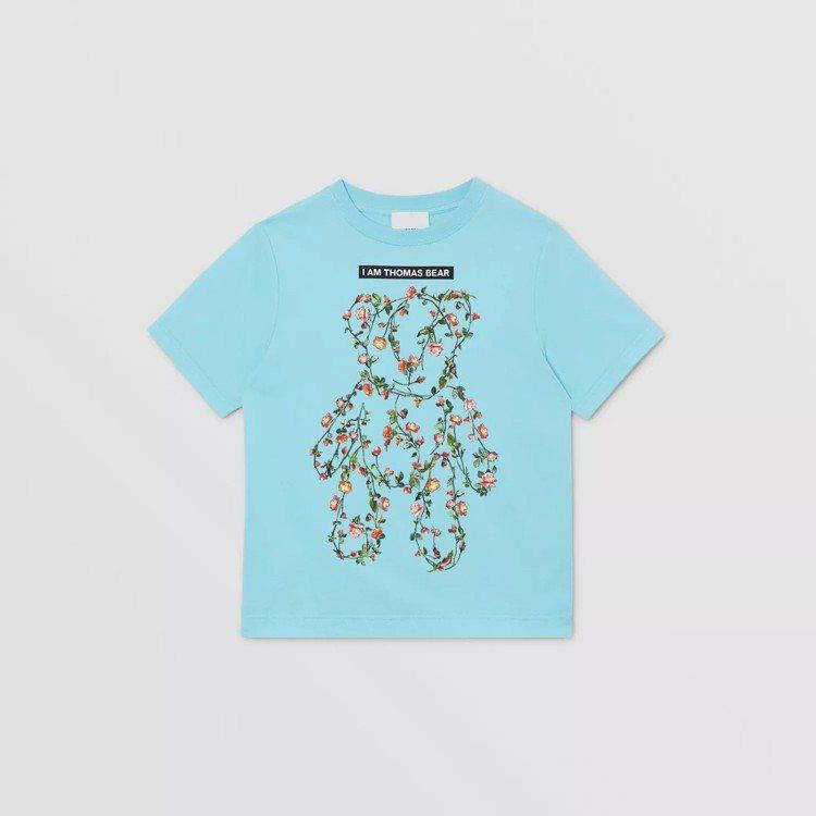 BURBERRY蒙太奇印花棉質T恤,7,000元。圖/取自BURBERRY官網