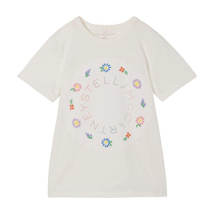 Stella McCartney的女童裝以刺繡呈現品牌英文字母及花卉圖案。圖/S...