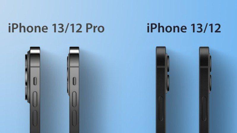據傳蘋果iPhone 13系列的機身將稍微變厚,相機模組則變大也更突出。 擷自AppleInsider