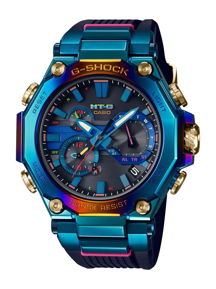 G-SHOCK MTG-B2000PH限量系列腕表,電鍍不鏽鋼表殼,搭配橡膠表帶...