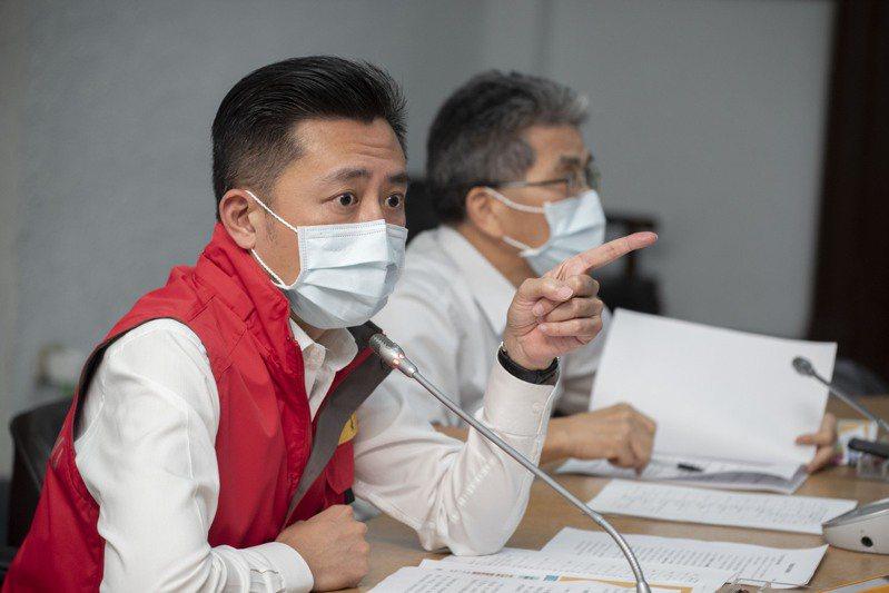 因應疫情變化,新竹市長林智堅今天下午舉行緊急防疫會議。圖/新竹市政府提供