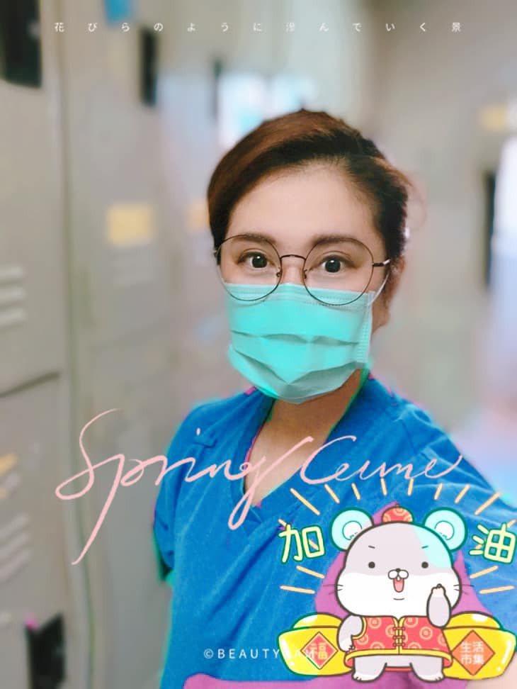 薛楷莉目前是專業的護理師。圖/薛楷莉提供