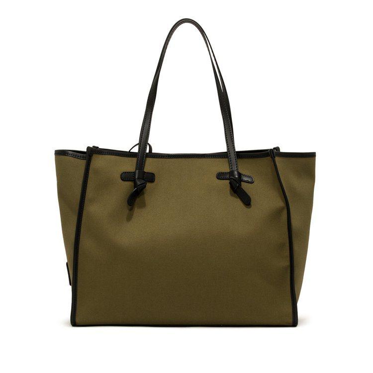Marcella綠色大型帆布托特包,8,900元。圖/Gianni Chiari...