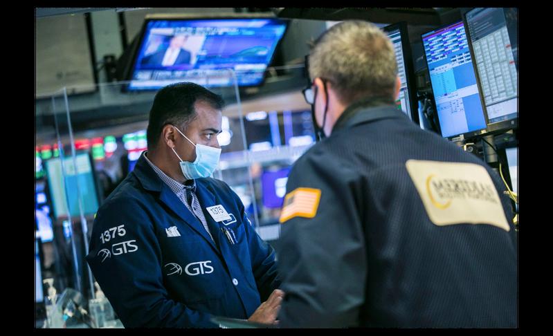 美股11日早盤跌成一片,科技股又跌得更重。美聯社