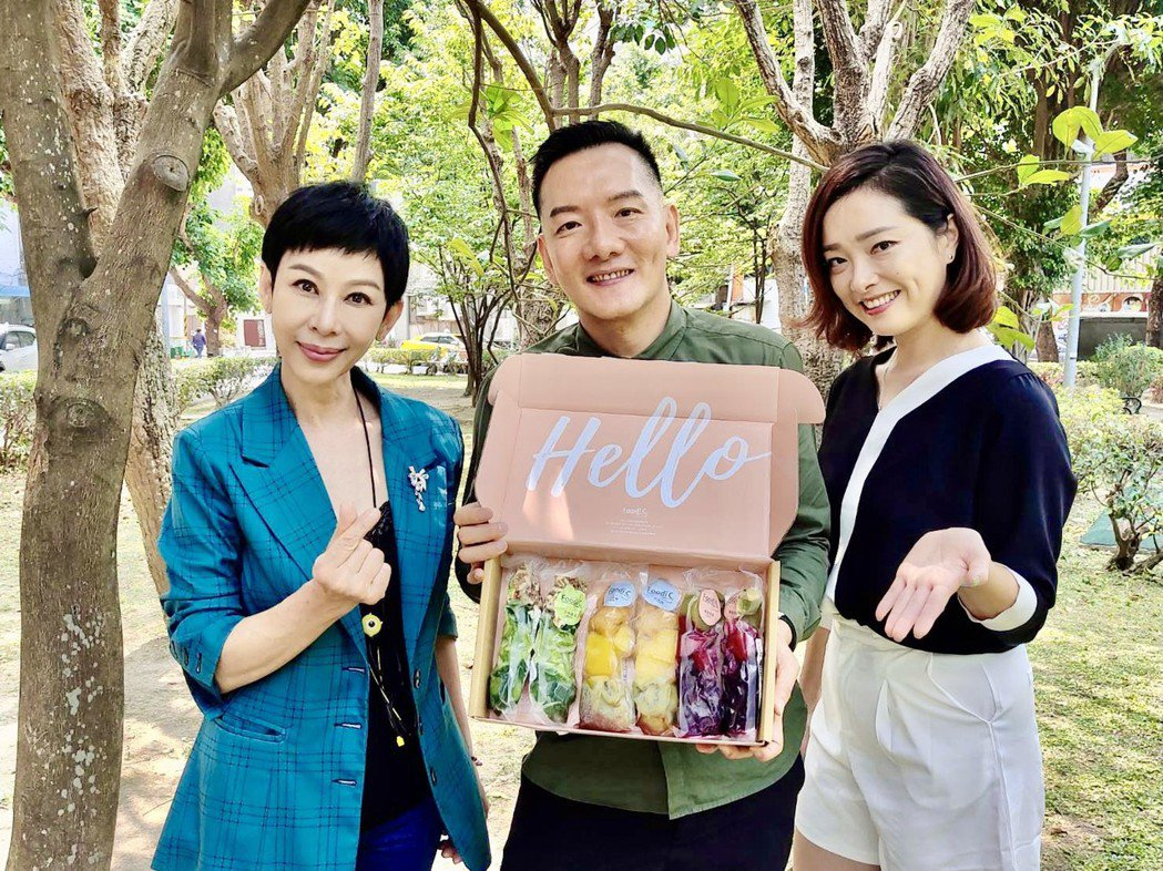 李秀媛(左起)、田定豐及林上筳推薦蔬食美好。圖/混種時代提供
