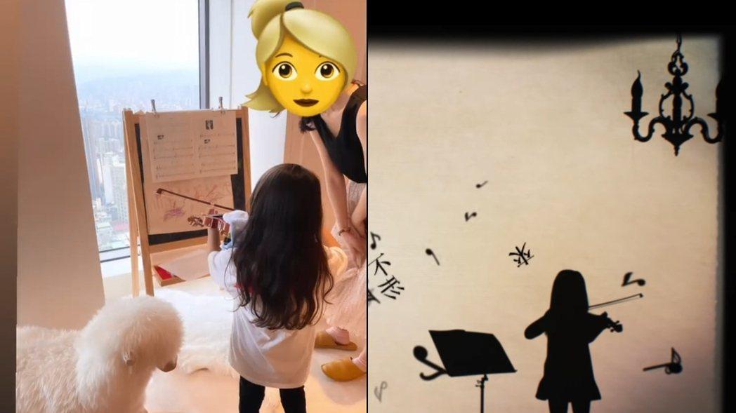 網友發現小周周拉小提琴的背影,與周杰倫「前世情人」MV畫面相似。 圖/擷自昆凌I