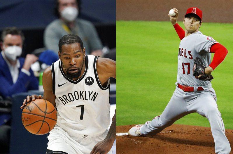 大谷翔平「二刀流」造成的旋風不單只限於棒球界,就連籃網隊一哥杜蘭特(Kevin Durant)也對他為之瘋狂。 美聯社