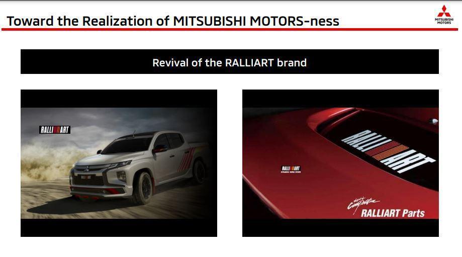三菱將重啟Ralliart和Ralliart Parts。 摘自Mitsubis...