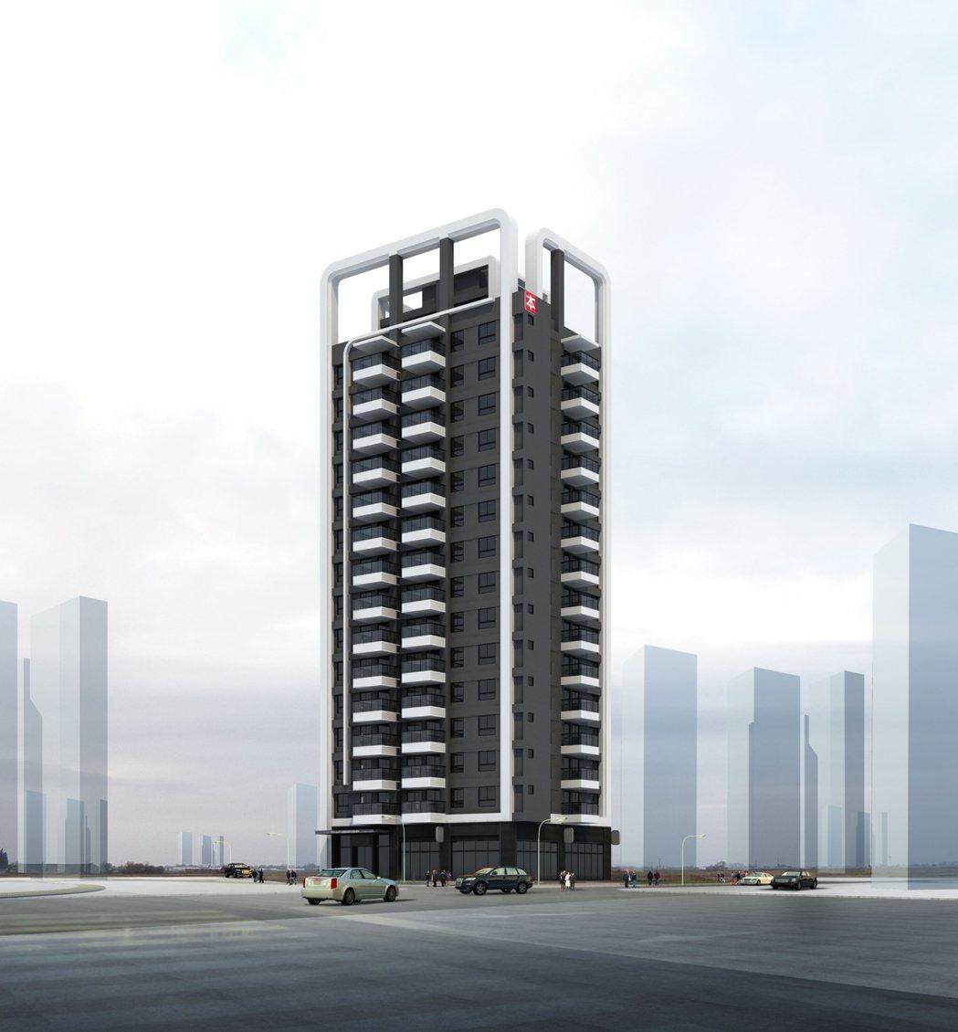本業建設高潭市外觀3D示意圖。