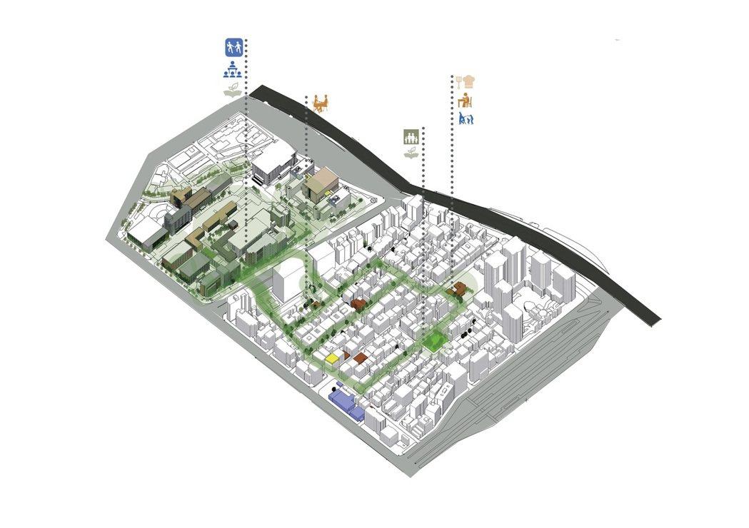 北科大建築系提出青銀共創友善療育社區願景。 北科大/提供