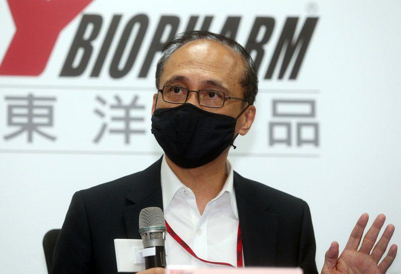 台灣東洋今日宣布,瞄準國內智慧醫療器材市場,該公司與緯創資通旗下的緯創醫學科技正式結盟。圖為台灣東洋董事長林全。記者/曾吉松 攝影