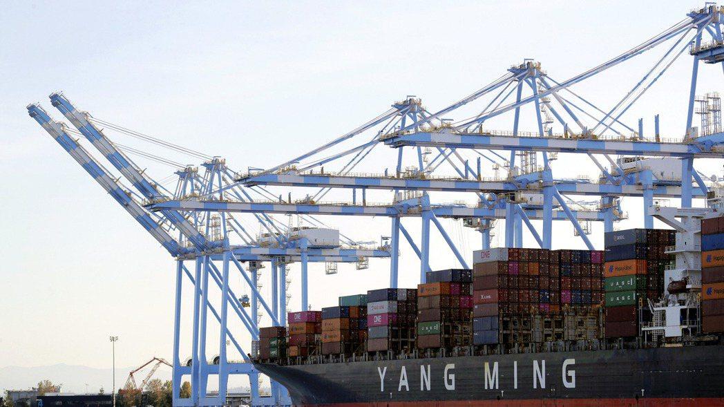 陽明海運獲納入MSCI 全球標準指數成份股。美聯社