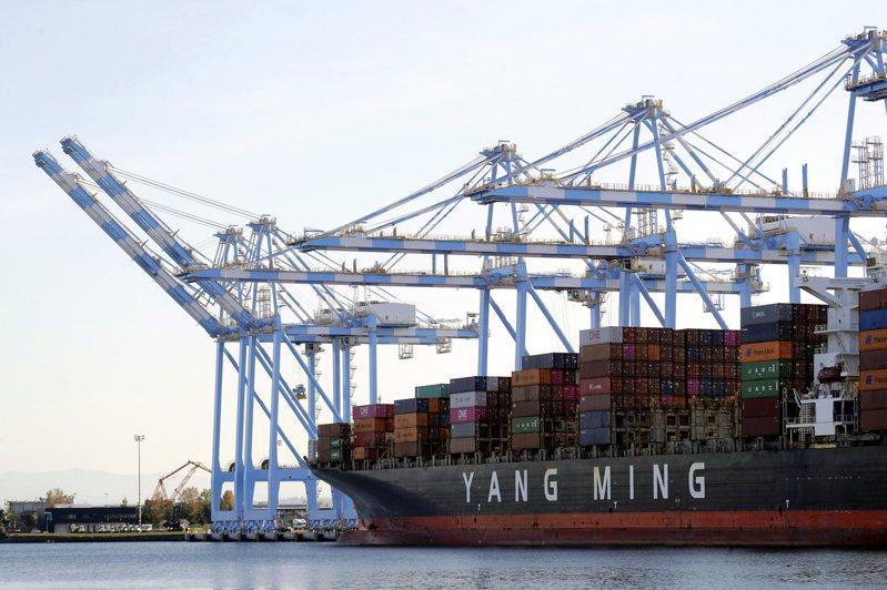 陽明海運(2609)獲納入MSCI 全球標準指數成份股。美聯社
