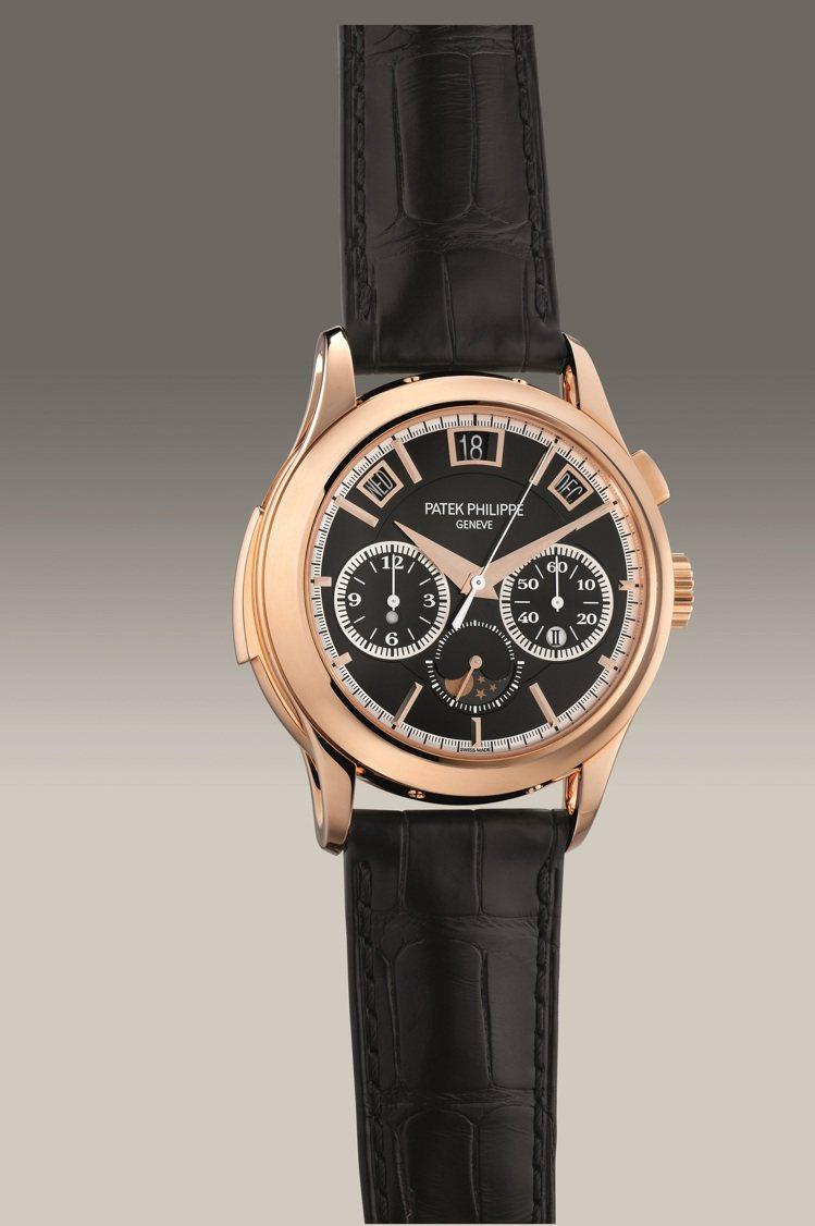 百達翡麗型號5208R-001玫瑰金自動超級複雜功能腕表,2019年製,估價55...