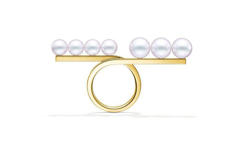 TASAKI balance loop戒指,14萬6,000元。圖/TASAKI...
