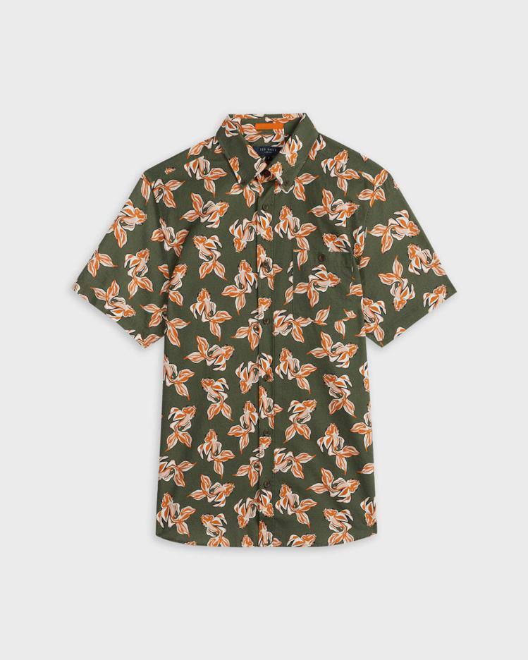 POKEE金魚印花亞麻襯衫,4,980元。圖/Ted Baker提供
