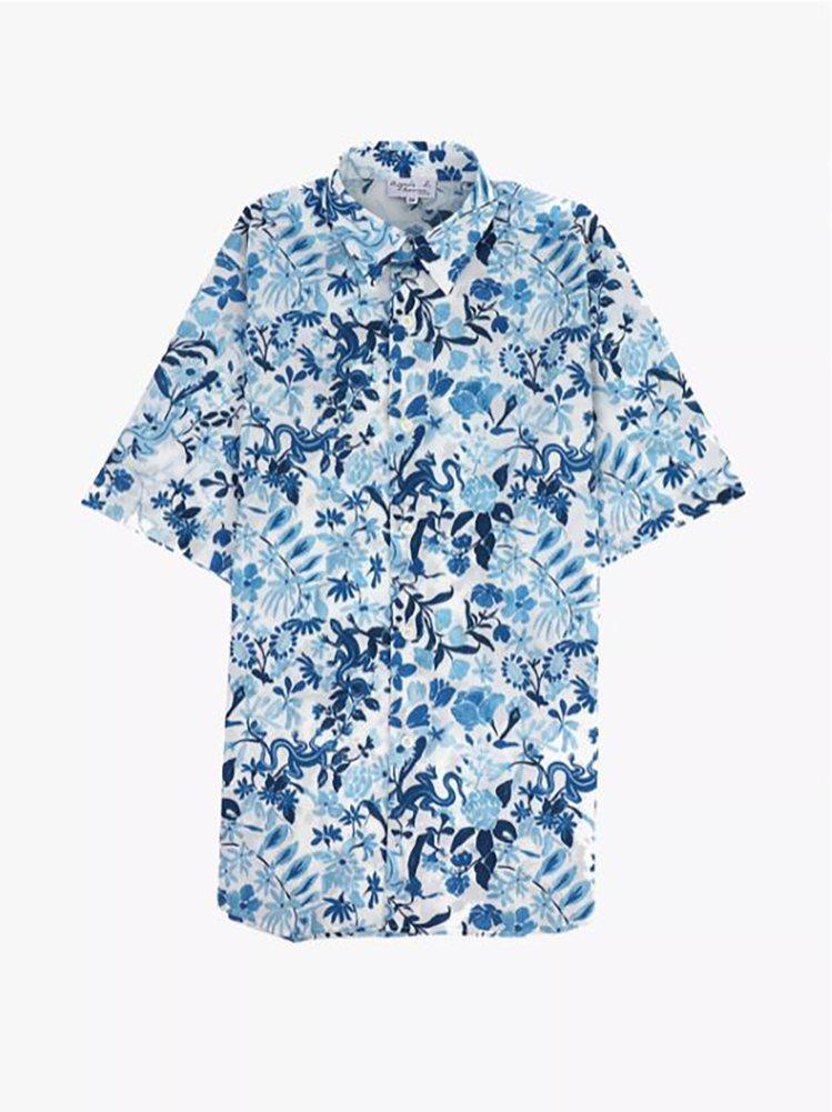 印花短袖襯衫,7,980元。圖/agnès b.提供