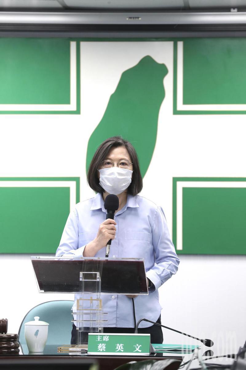 兼任民進黨主席的總統蔡英文。圖/台北市攝影記者聯誼會提供