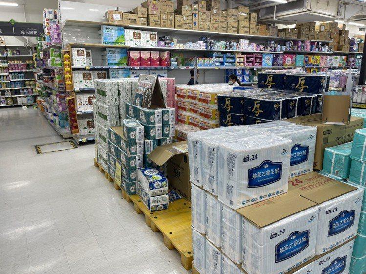 家樂福表示目前商品存貨供應穩定,會持續補貨。圖/家樂福提供