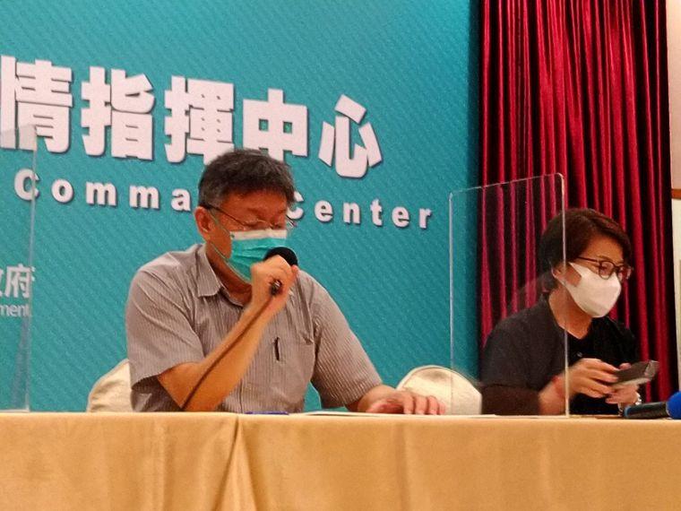 台北市長柯文哲宣布,台北市即刻啟動「準第三階段」防疫措施。記者林麗玉/攝影