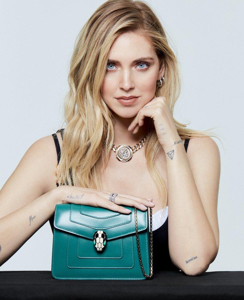 號稱宇宙第一網紅的Chiara Ferragni成為寶格麗品牌大使。圖/寶格麗提供