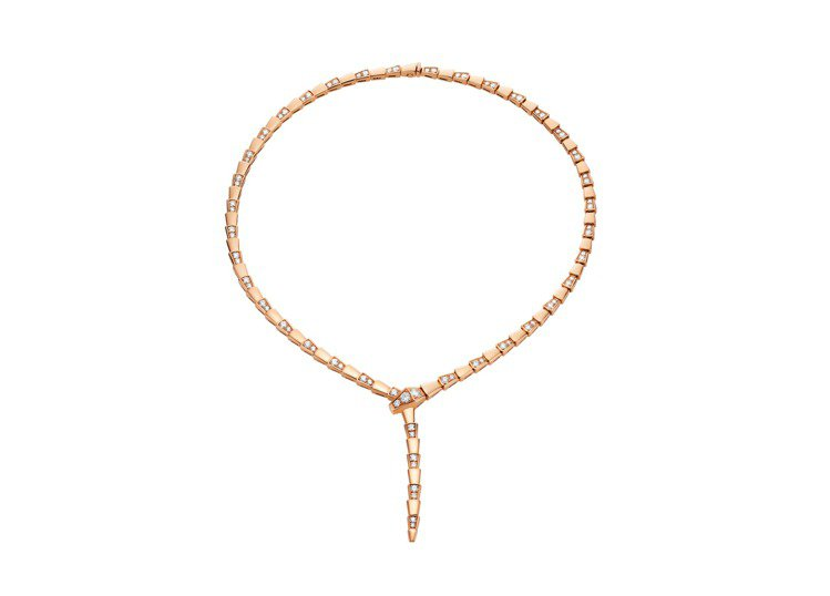 BVLGARI Serpenti Viper玫瑰金鑽石項鍊,約122萬3,000...