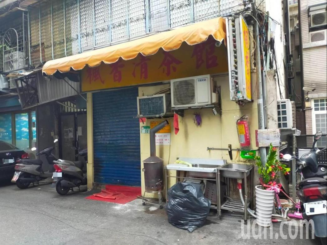 位於西園路巷弄內的「楓香茶藝館」已關門停業。記者李隆揆/攝影