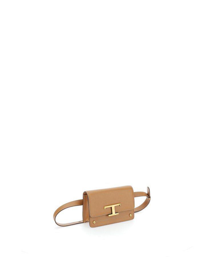 TOD'S T Timeless淺棕色腰包,39,900元。圖/迪生提...