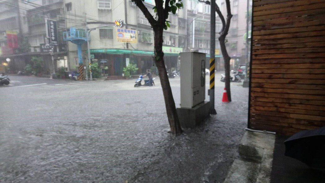 永和區過去常有積淹水問題。圖/永和區公所提供