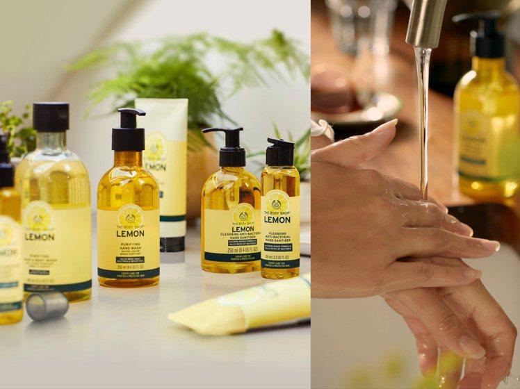 THE BODY SHOP檸檬清新潔淨化乾洗手。圖/THE BODY SHOP提...