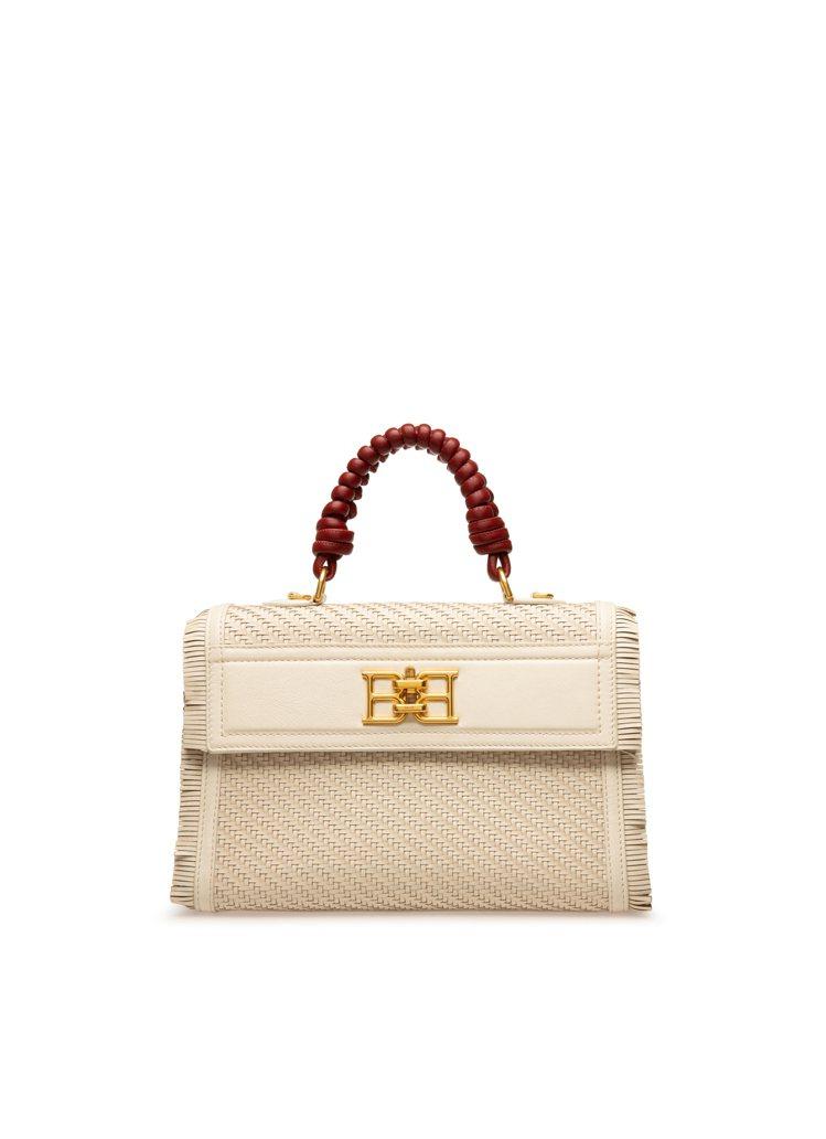 B-CHAIN米色羊皮編織手提包,62,600元。圖/BALLY提供