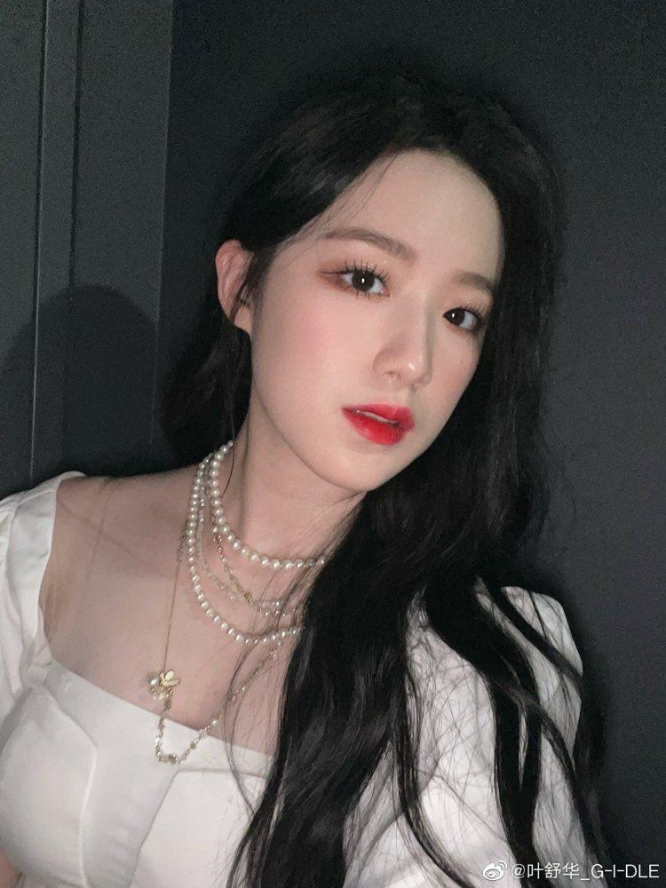 南韓女團(G)I-DLE團員舒華來自台灣。圖/摘自微博