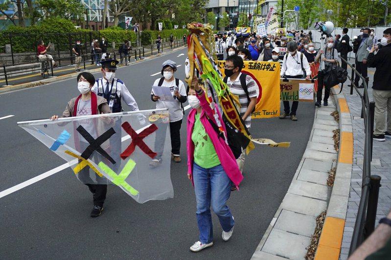 東京奧運即將在七月舉行,然而近期因疫情再度增溫,日本當地已醞釀不少反對聲浪。 美聯社
