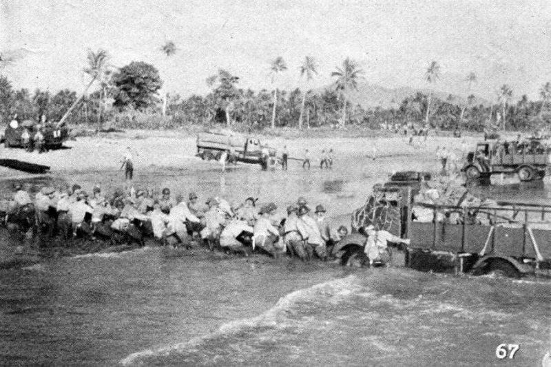 1942年,荷蘭東印度群島戰役中日軍登陸爪哇。 圖/維基共享