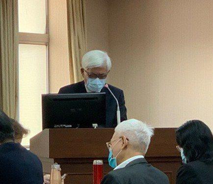 中選會主委李進勇今天赴立法院內政委員會報告並備詢。記者鄭媁/攝影