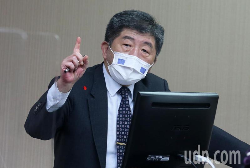 衛服部長陳時中今天出席立法院衛環委員會。記者胡經周/攝影