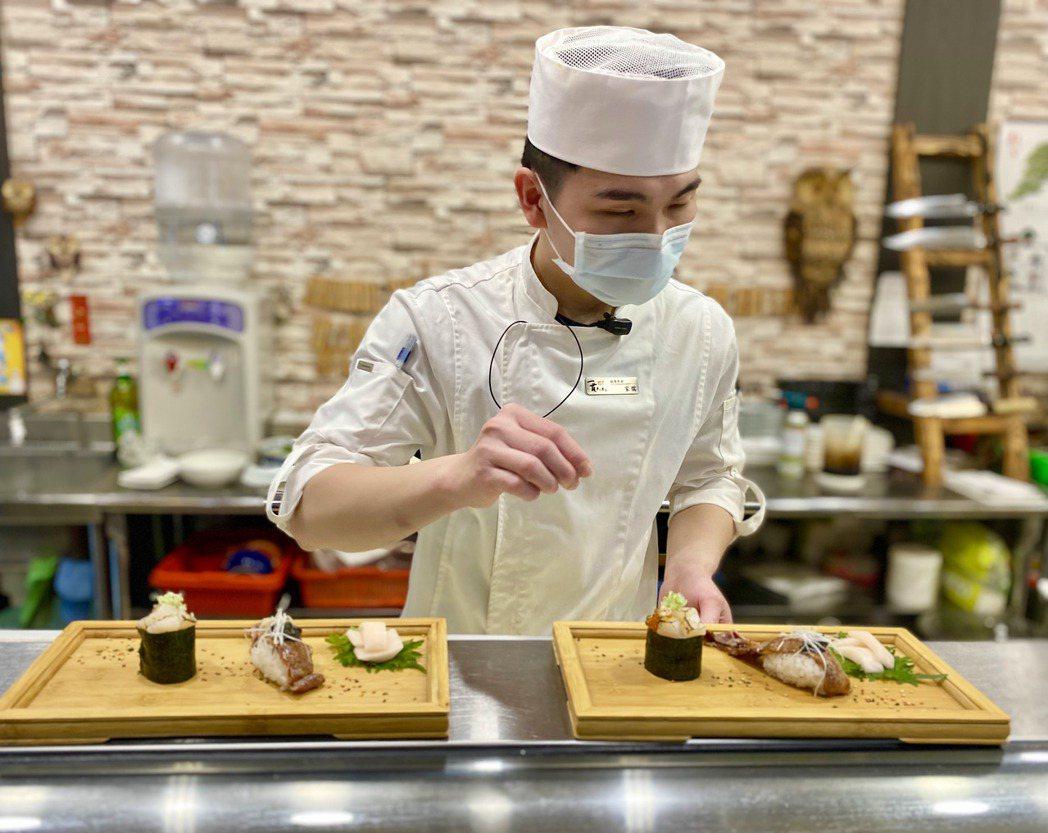 「一貫手作壽司」以無菜單料理在台中打開知名度,獲中科日本廠商及客戶青睞。記者宋健...