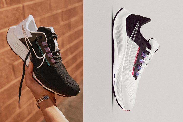 NIKE搶在夏季到來之際,讓搭載新鞋楦、改良版的Pegasus 38正式上市。圖...