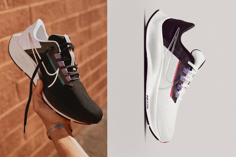NIKE搶在夏季到來之際,讓搭載新鞋楦、改良版的Pegasus 38正式上市。圖/NIKE提供